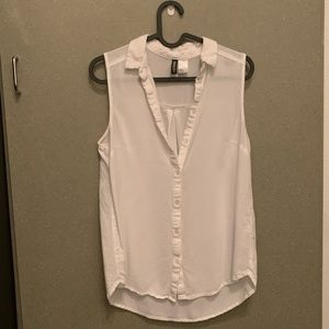 Size 4 White button down
